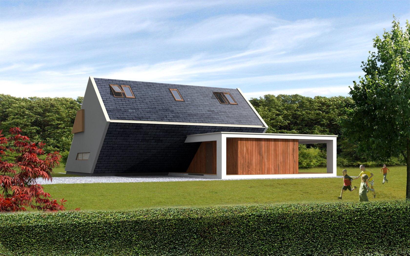 Prefabricated house ek 011 ekokoncept for Case in legno senza fondamenta