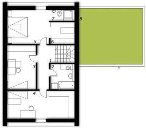Nadstropje Montažna hiša ek 010