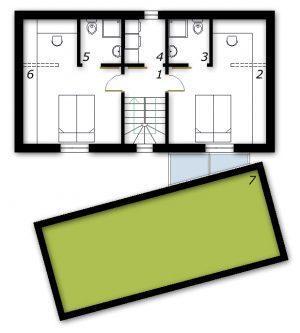 Nadstropje Montažna hiša ek 013