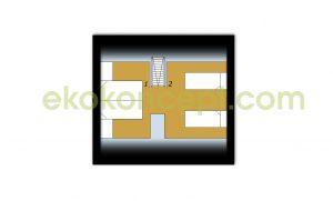 Upper floor Prefabricated house ek 020