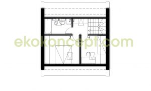 Upper floor Prefabricated house ek 031