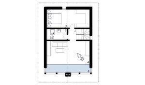 Upper floor Prefabricated house ek 032