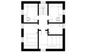 Nadstropje Montažna hiša ek 034