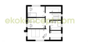 Upper floor Prefabricated house ek 039