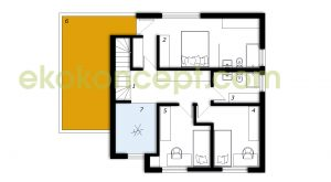 Upper floor Prefabricated house ek 040
