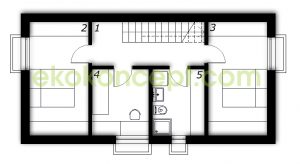 Half-basement Prefabricated house ek 024