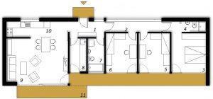 Ground floor Prefabricated house ek 004