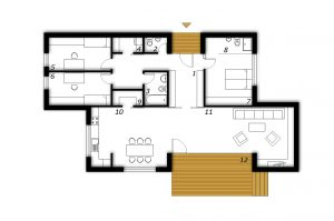 Ground floor Prefabricated house ek 005