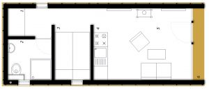 Pritličje Montažna hiša ek 015 / ek 016