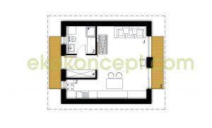 Ground floor Prefabricated house ek 020