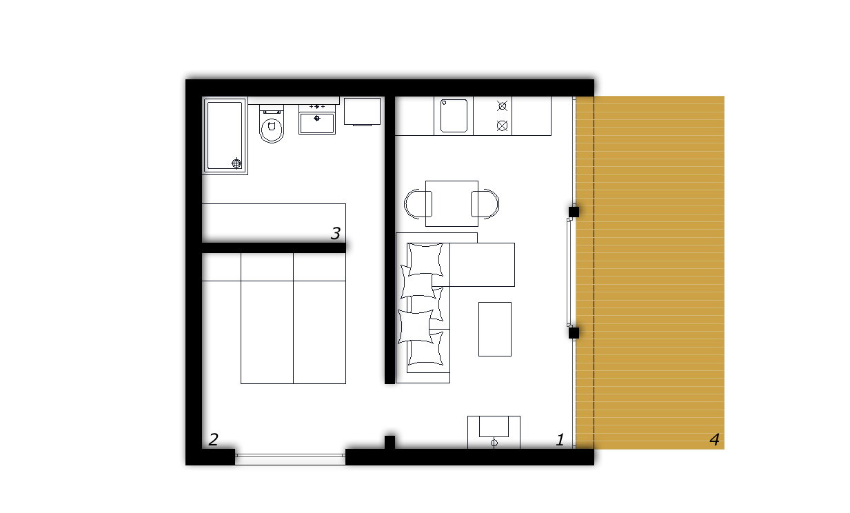 Plan maison 60m2 interesting plan maison m pas chere with for Plan maison 60m2