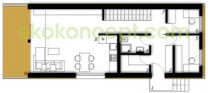 Ground floor Prefabricated house ek 024