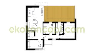 Ground floor Prefabricated house ek 026