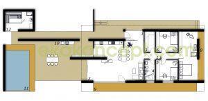 Ground floor Prefabricated house ek 030
