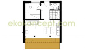 Ground floor Prefabricated house ek 031