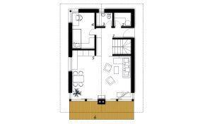 Ground floor Prefabricated house ek 032