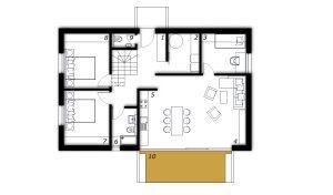 Pritličje Montažna hiša ek 033