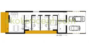 Ground floor Prefabricated house ek 036