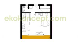 Ground floor Prefabricated house ek 038