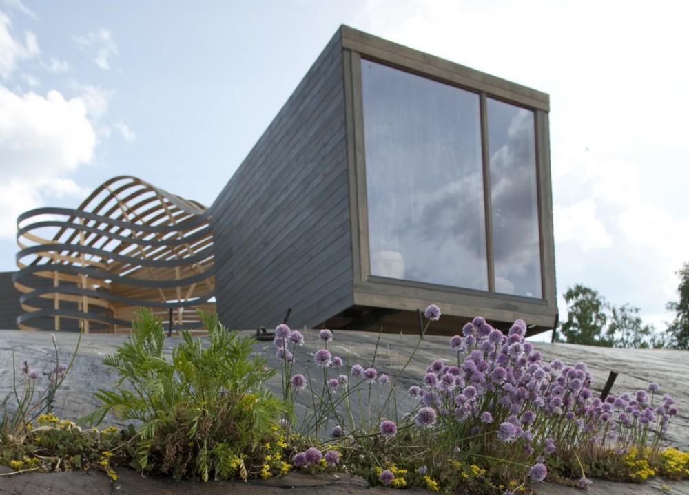 WISA lesen design hotel, otok Valkosaari, južna luka Helsinkov, Finska arhitekta Pieta-Linda Auttila