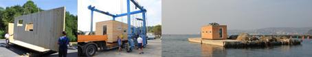 06.2012 – Ekokoncept splavi prvo leseno montažno hiško na Jadranu