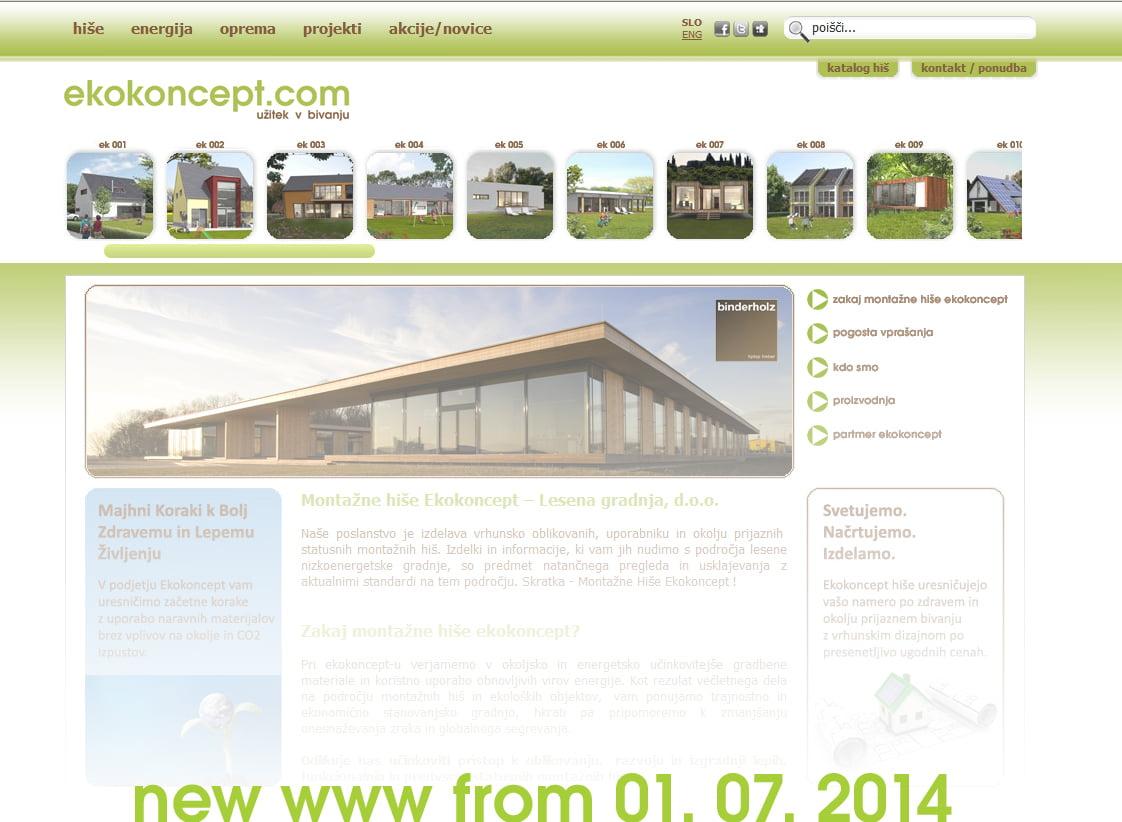 07.2014 prenovljena www stran ekokoncept.com