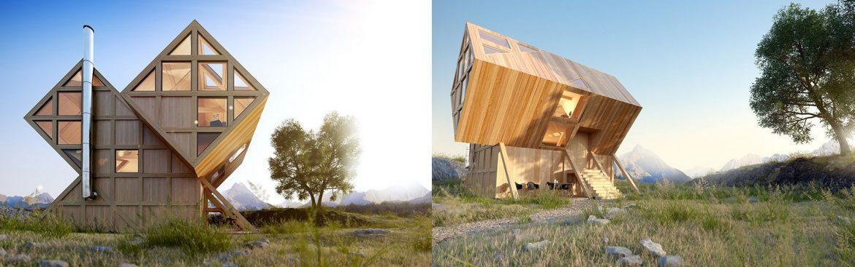 Hiša v dolini, Dolomiti – Italija, Plan Bureau