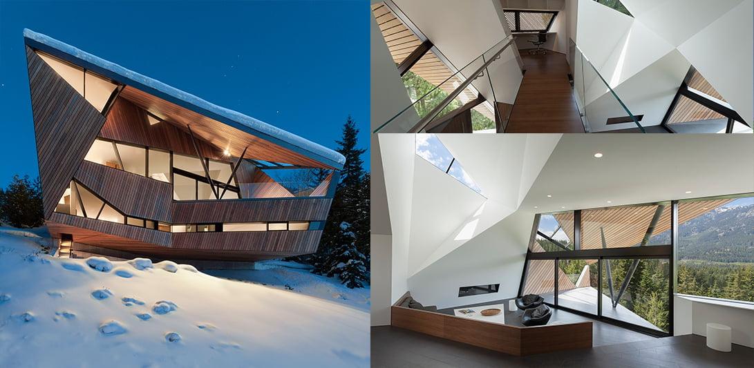 Koča  »Hadaway«, Whistler, Kanada,  Patkau arhitekti